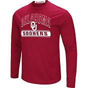 Colosseum Men's Oklahoma Sooners Crimson Ganges Long Sleeve T-Shirt