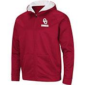 Colosseum Men's Oklahoma Sooners Crimson Full-Zip Hoodie