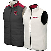Colosseum Men's Oklahoma Sooners Grey Blinky Reversible Full-Zip Vest