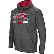 Colosseum Men's Oklahoma Sooners Grey Pullover Hoodie