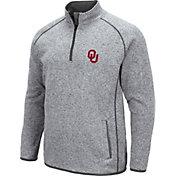 Colosseum Men's Oklahoma Sooners Grey Amur Quarter-Zip Shirt