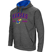 Colosseum Men's Kansas Jayhawks Grey Pullover Hoodie