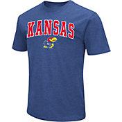 Colosseum Men's Kansas Jayhawks Dual Blend Blue T-Shirt