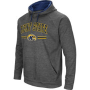 Colosseum Men's Kent State Golden Flashes Grey Pullover Hoodie