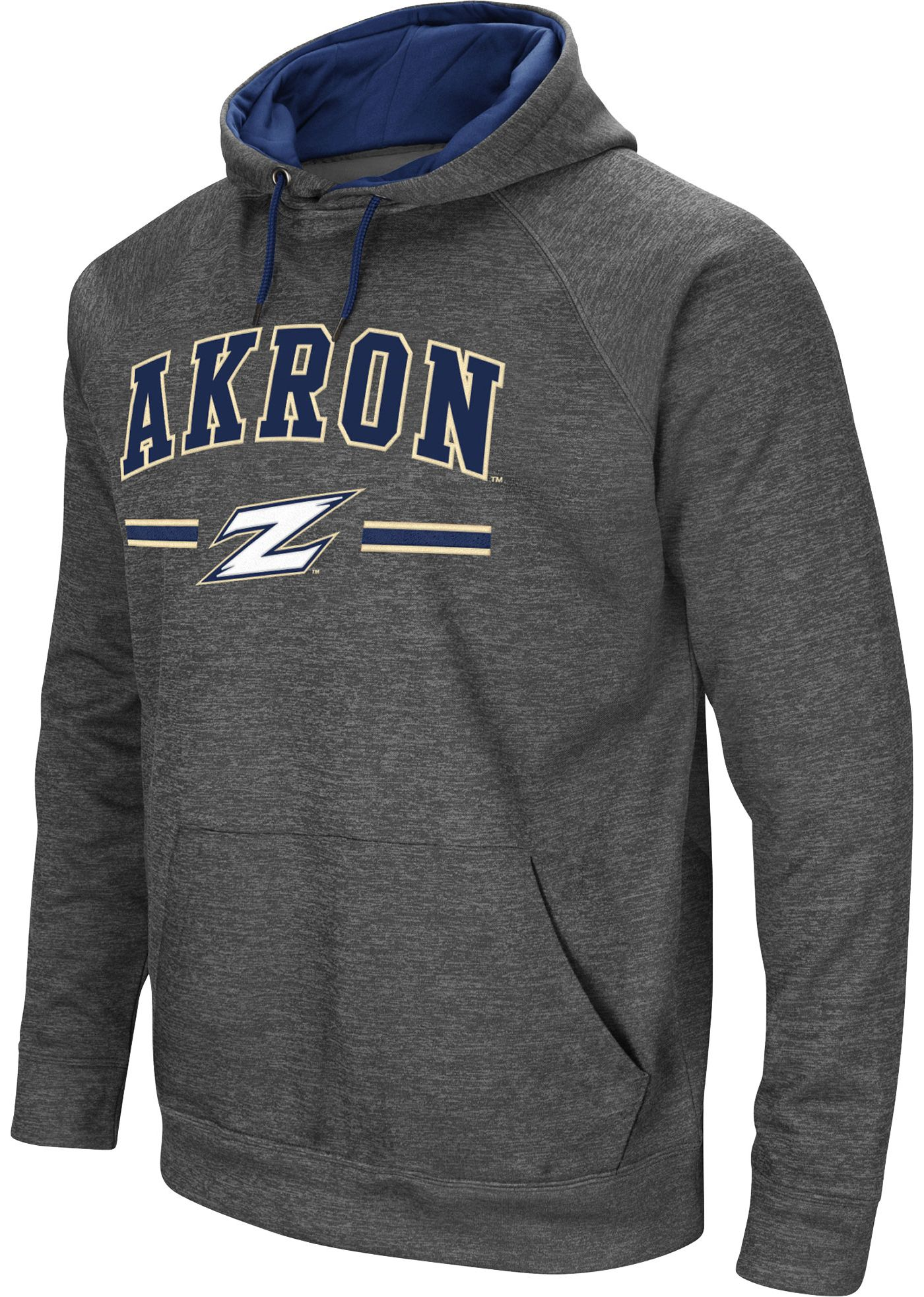 Colosseum Men's Akron Zips Grey Pullover Hoodie