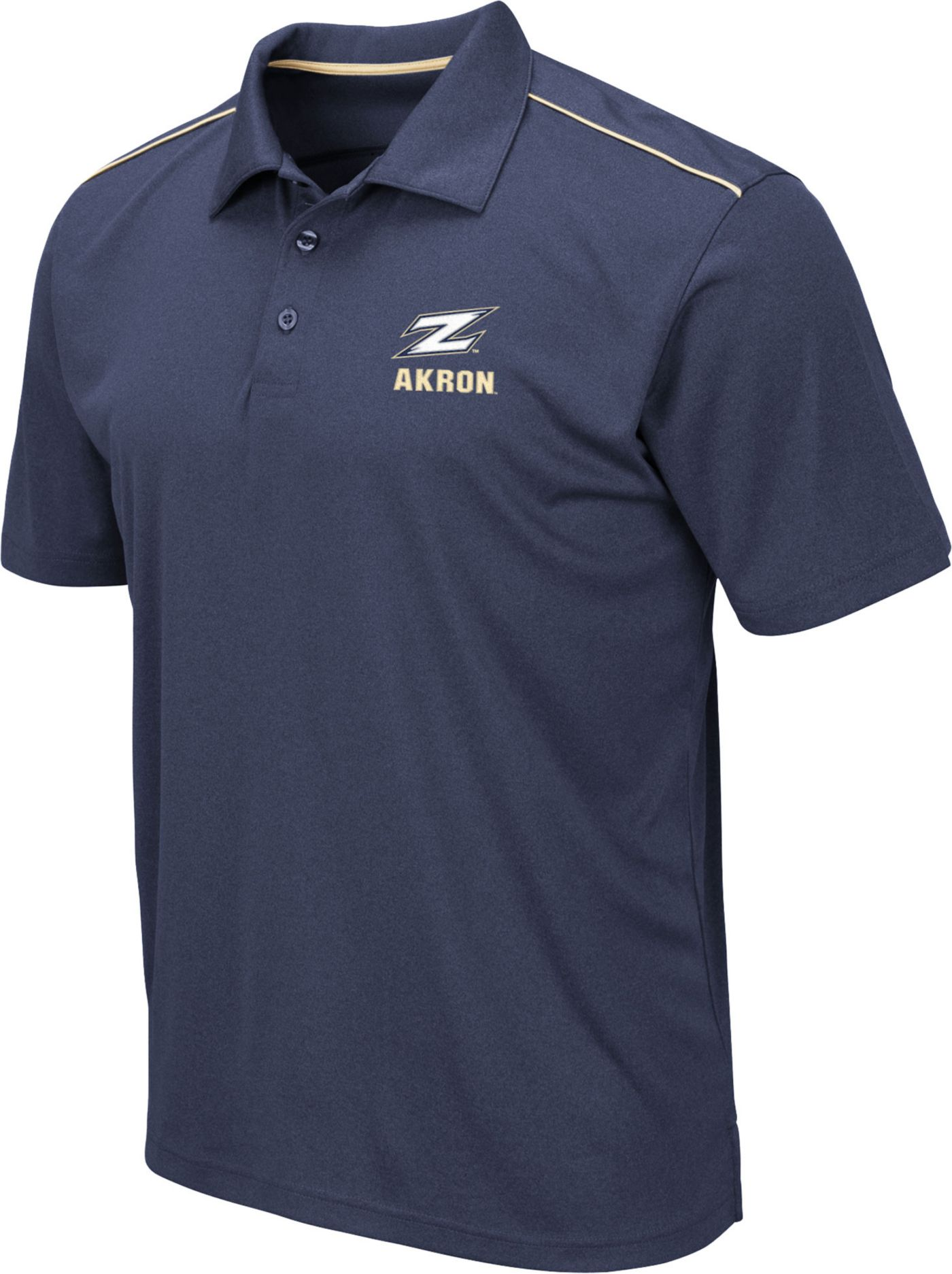 Colosseum Men's Akron Zips Navy Eagle Polo