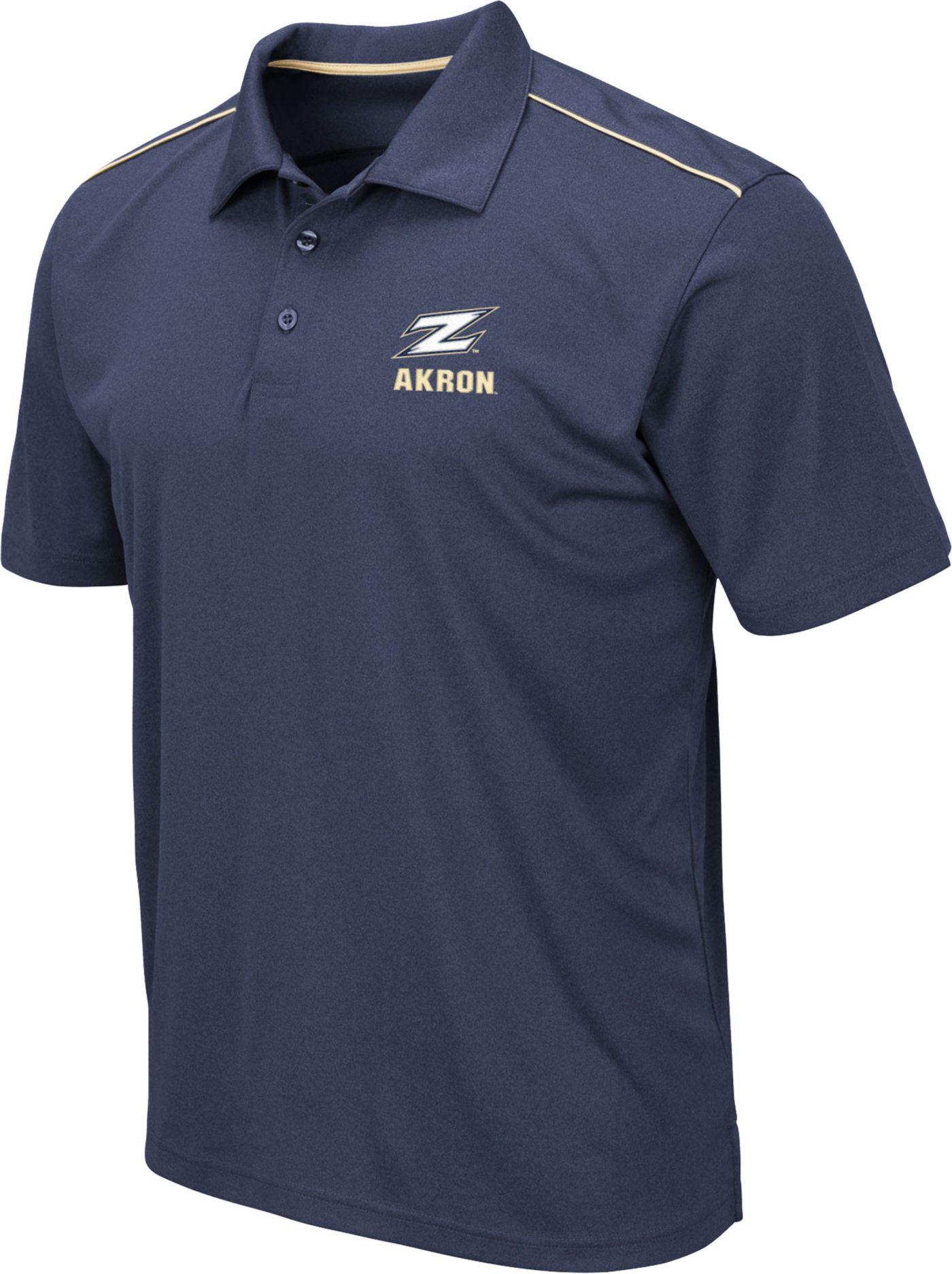 Colosseum Men's Akron Zips Navy Eagle Polo
