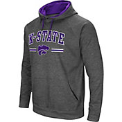 Colosseum Men's Kansas State Wildcats Grey Pullover Hoodie