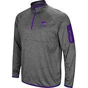 Colosseum Men's Kansas State Wildcats Grey Indus River Quarter-Zip Shirt