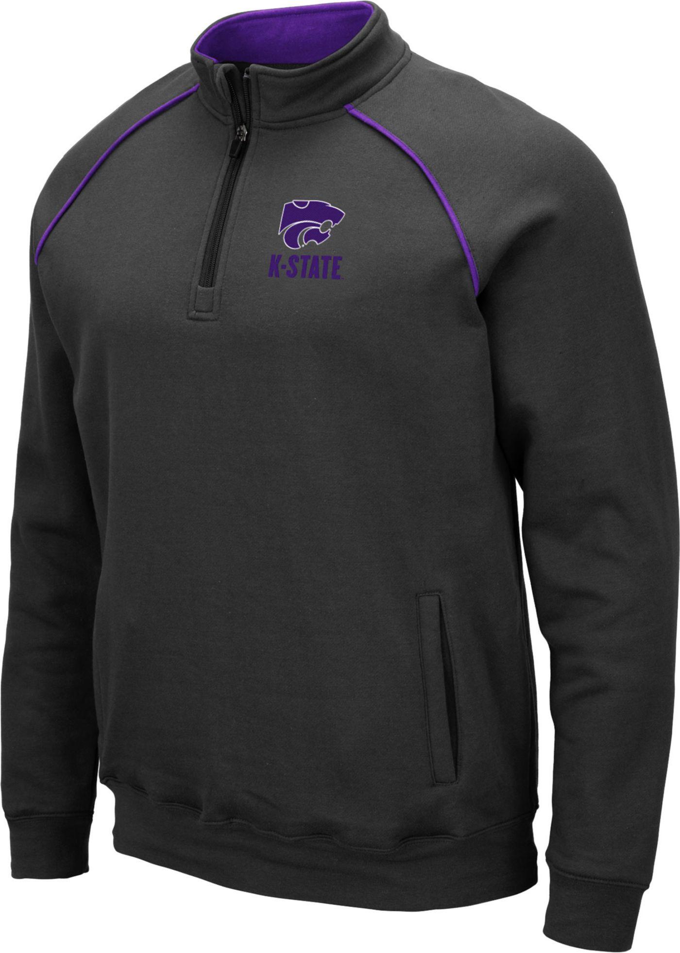 Colosseum Men's Kansas State Wildcats Grey VF Staghorn Quarter-Zip Shirt