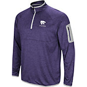 Colosseum Men's Kansas State Wildcats Purple Indus River Quarter-Zip Shirt