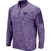 Colosseum Men's Kansas State Wildcats Purple Quarter-Zip Shirt