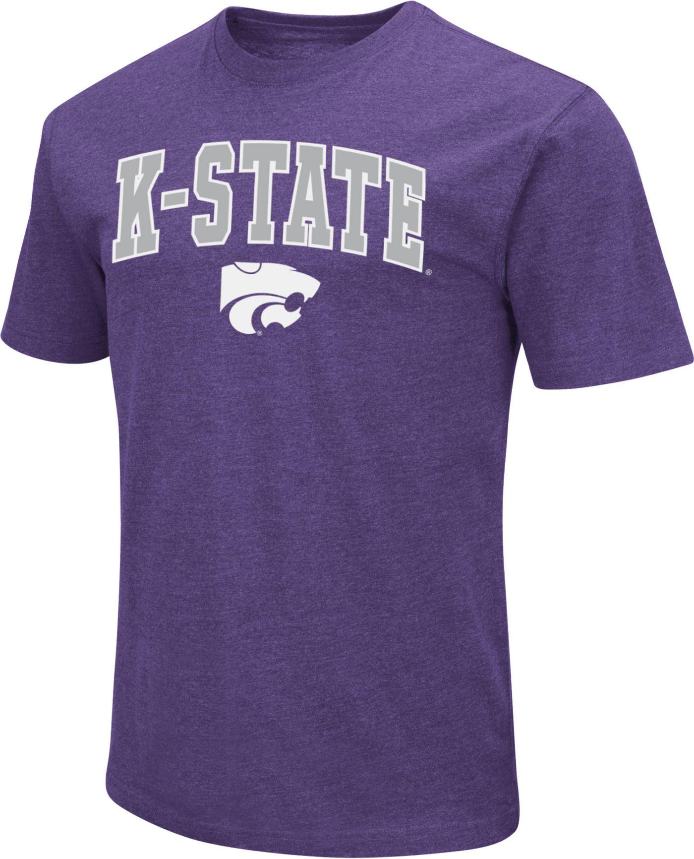 Colosseum Men's Kansas State Wildcats Purple Dual Blend T-Shirt