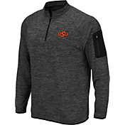Colosseum Men's Oklahoma State Cowboys Grey Quarter-Zip Shirt