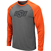 Colosseum Men's Oklahoma State Cowboys Grey Rad Tad Raglan Long Sleeve T-Shirt