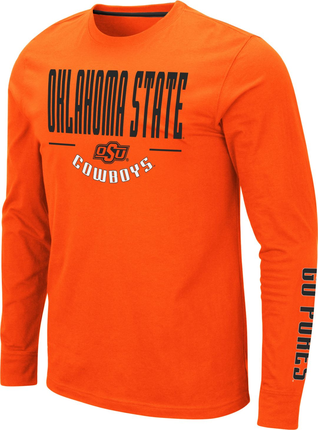best sneakers 39dc5 e4acd Colosseum Men's Oklahoma State Cowboys Orange Streetcar Long Sleeve T-Shirt