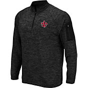 Colosseum Men's Louisiana-Lafayette Ragin' Cajuns Quarter-Zip Black Shirt
