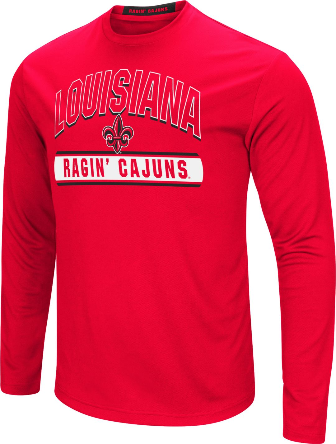 the best attitude 6b3fe a39ab Colosseum Men's Louisiana-Lafayette Ragin' Cajuns Red Ganges Long Sleeve  T-Shirt