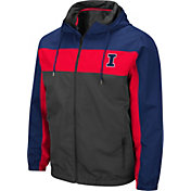 Colosseum Men's Illinois Fighting Illini Grey Brockman Full-Zip Jacket
