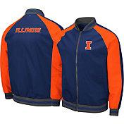 Colosseum Men's Illinois Fighting Illini Blue Kent Bomber Full-Zip Jacket