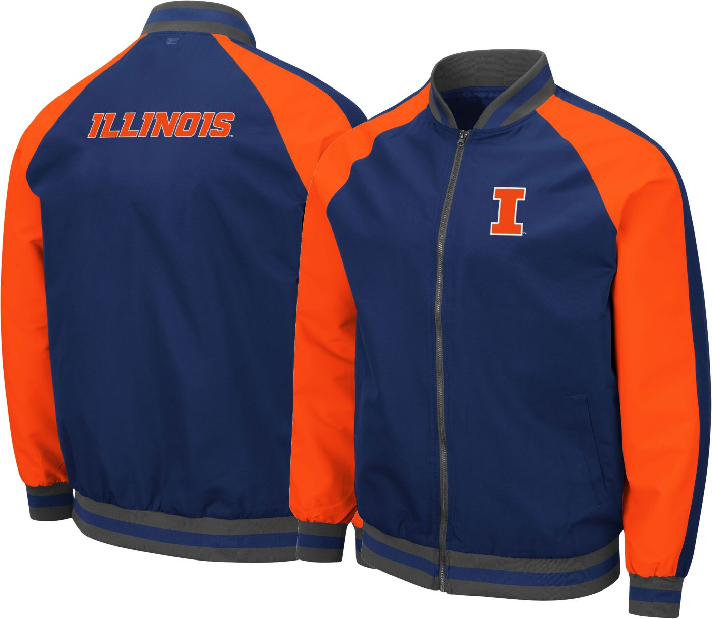 Colosseum Men's Illinois Fighting Illini Blue Kent Bomber Full-Zip Jacket
