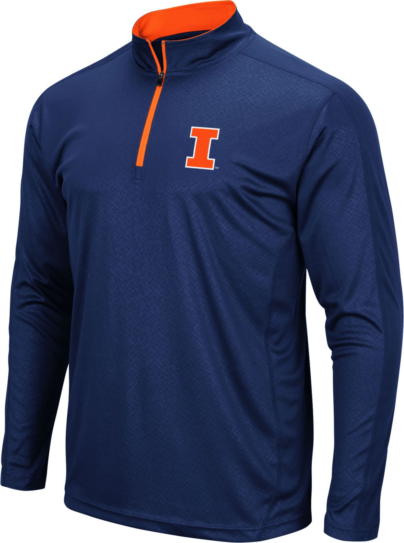 Colosseum Men's Illinois Fighting Illini Blue Loggerhead Quarter-Zip Shirt