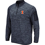Colosseum Men's Illinois Fighting Illini Blue Quarter-Zip Shirt