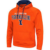 Colosseum Men's Illinois Fighting Illini Orange Pullover Hoodie