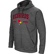 Colosseum Men's Illinois State Redbirds Grey Pullover Hoodie