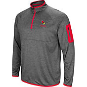 Colosseum Men's Illinois State Redbirds Grey Indus River Quarter-Zip Shirt