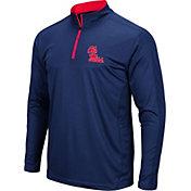 Colosseum Men's Ole Miss Rebels Blue Loggerhead Quarter-Zip Shirt