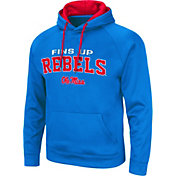 Colosseum Men's Ole Miss Rebels Blue Pullover Hoodie