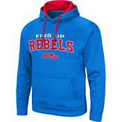Colosseum Men's Ole Miss Rebels Pullover Black Hoodie