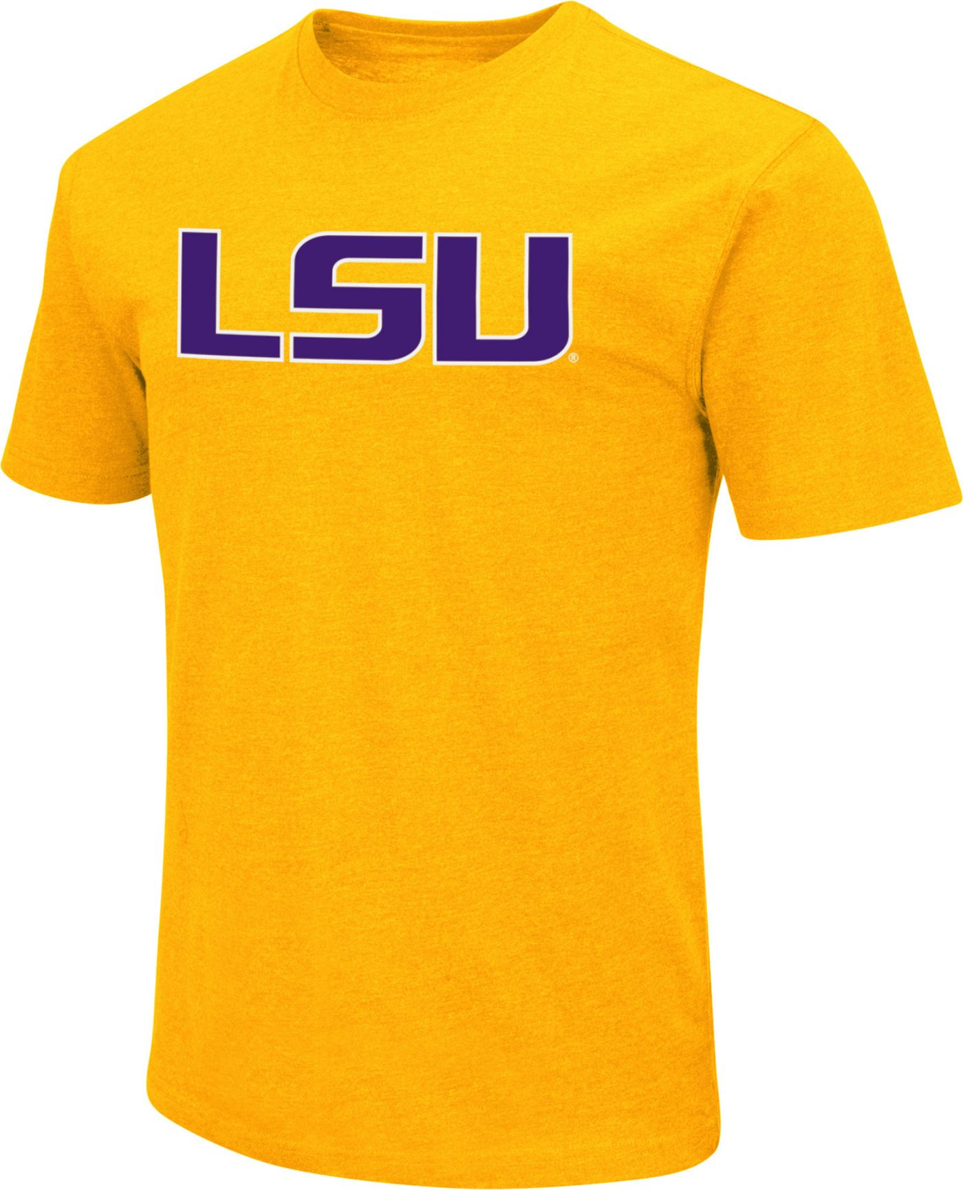 Colosseum Men's LSU Tigers Gold Dual Blend T-Shirt