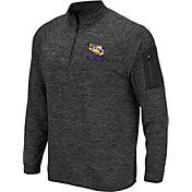Colosseum Men's LSU Tigers Grey Indus River Quarter-Zip Shirt