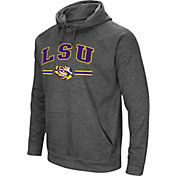 Colosseum Men's LSU Tigers Grey Pullover Hoodie