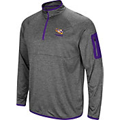 Colosseum Men's LSU Tigers Grey Indus River Quarter-Zip Shirt
