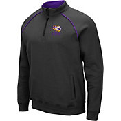Colosseum Men's LSU Tigers Grey VF Staghorn Quarter-Zip Shirt