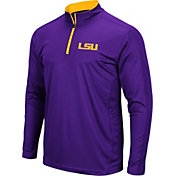 Colosseum Men's LSU Tigers Purple Loggerhead Quarter-Zip Shirt