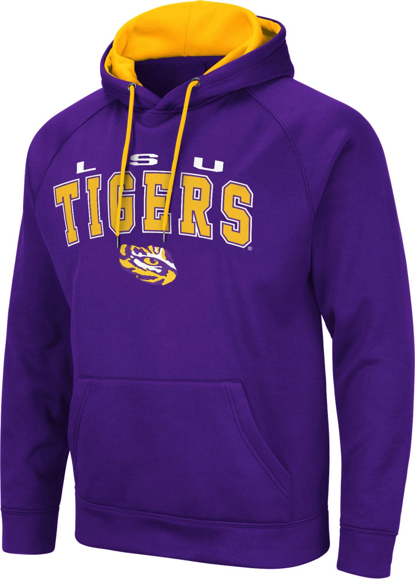 Colosseum Men's LSU Tigers Purple Pullover Hoodie