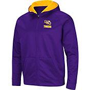 Colosseum Men's LSU Tigers Purple Full-Zip Hoodie