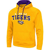 Colosseum Men's LSU Tigers Gold Pullover Hoodie