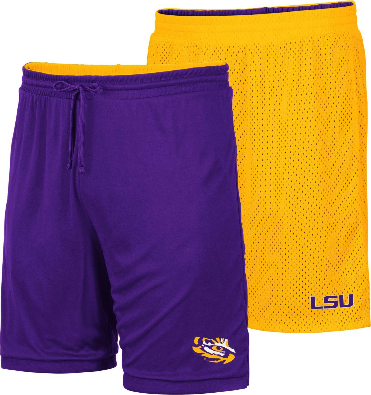Colosseum Men's LSU Tigers Purple/Gold Wiggum Reversible Shorts