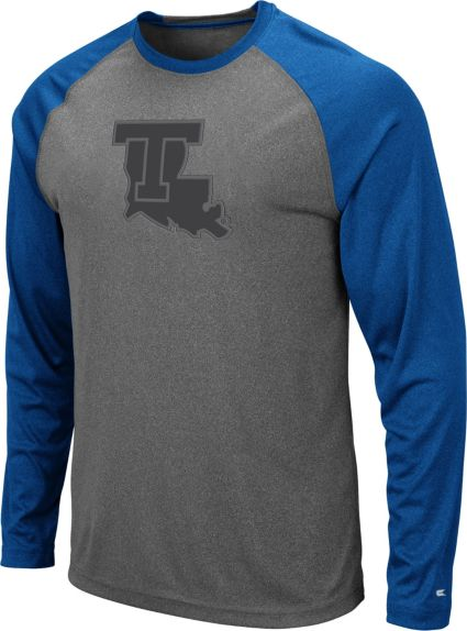 low priced 2bc84 304e0 Colosseum Men's Louisiana Tech Bulldogs Grey Rad Tad Raglan Long Sleeve  T-Shirt
