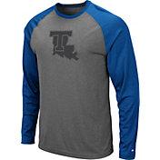 Colosseum Men's Louisiana Tech Bulldogs Grey Rad Tad Raglan Long Sleeve T-Shirt
