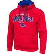 Colosseum Men's Louisiana Tech Bulldogs Red Pullover Hoodie
