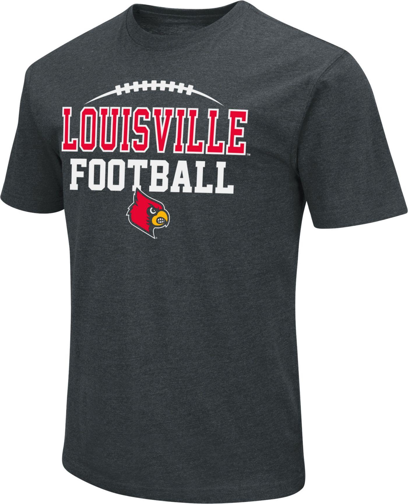 Colosseum Men's Louisville Cardinals Dual Blend Football Black T-Shirt