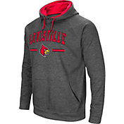 Colosseum Men's Louisville Cardinals Grey Pullover Hoodie