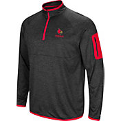 Colosseum Men's Louisville Cardinals Grey Indus River Quarter-Zip Shirt
