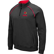 Colosseum Men's Louisville Cardinals Grey VF Staghorn Quarter-Zip Shirt